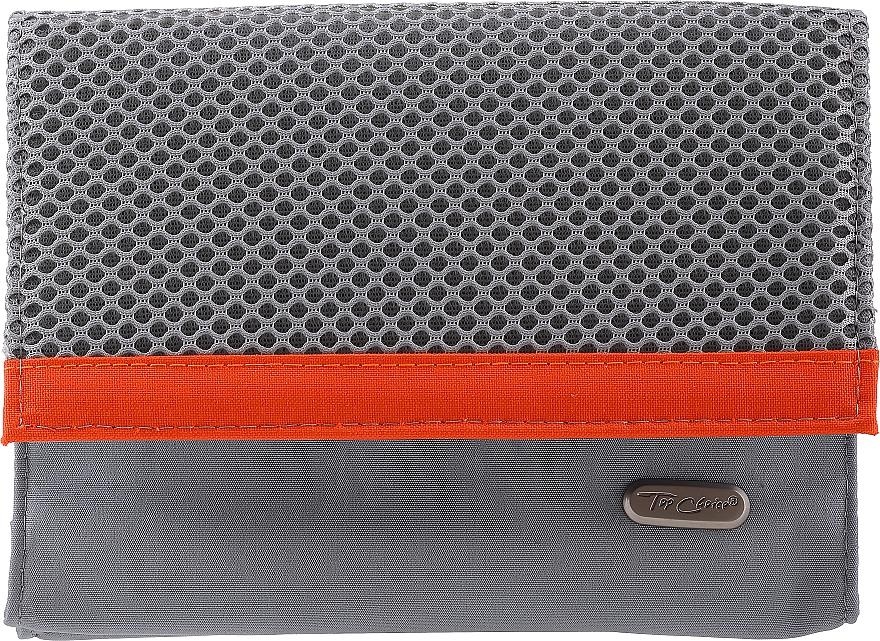 Dámska kozmetická taška 94644, šedo-oranžová - Top Choice Net — Obrázky N1