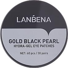 Voňavky, Parfémy, kozmetika Hydrogélové náplasti na oči so zlatom a čiernymi perlami - Lanbena Gold Black Pearl Hydra-Gel Eye Patch