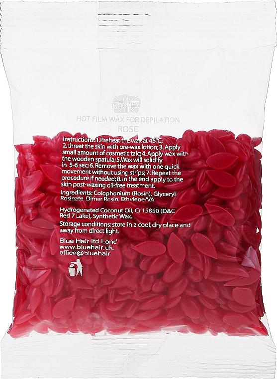 """Vosk na depiláciu v granuliach """"Ruže"""" - Ronney Hot Film Wax Rose"""