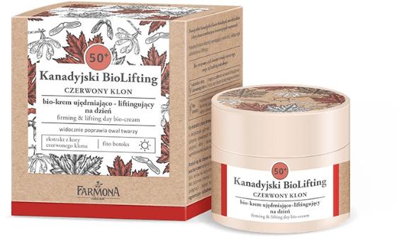 Spevňujúci denný bio-krém s efektom liftingu 50+ - Farmona Canadian BioLifting Red Maple — Obrázky N1