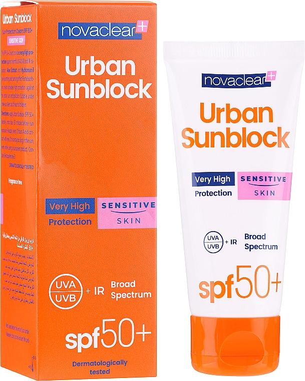 Krém pre citlivú pokožku tváre s ochranou proti slnku - Novaclear Urban Sunblock Protective Cream Sensitive Skin SPF50