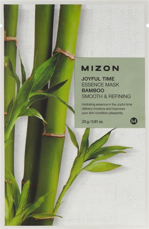 Látková maska s extraktom bambusa - Mizon Joyful Time Essence Mask Bamboo