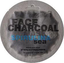 "Voňavky, Parfémy, kozmetika Maska na tvár ""Bambusové uhlie a spirulina"" - Cafe Mimi Charkoal & Spirulina Sea Face Mask"