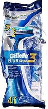 Voňavky, Parfémy, kozmetika Sada jednorazových holiacich strojčekov, 4ks - Gillette Blue 3 Simple