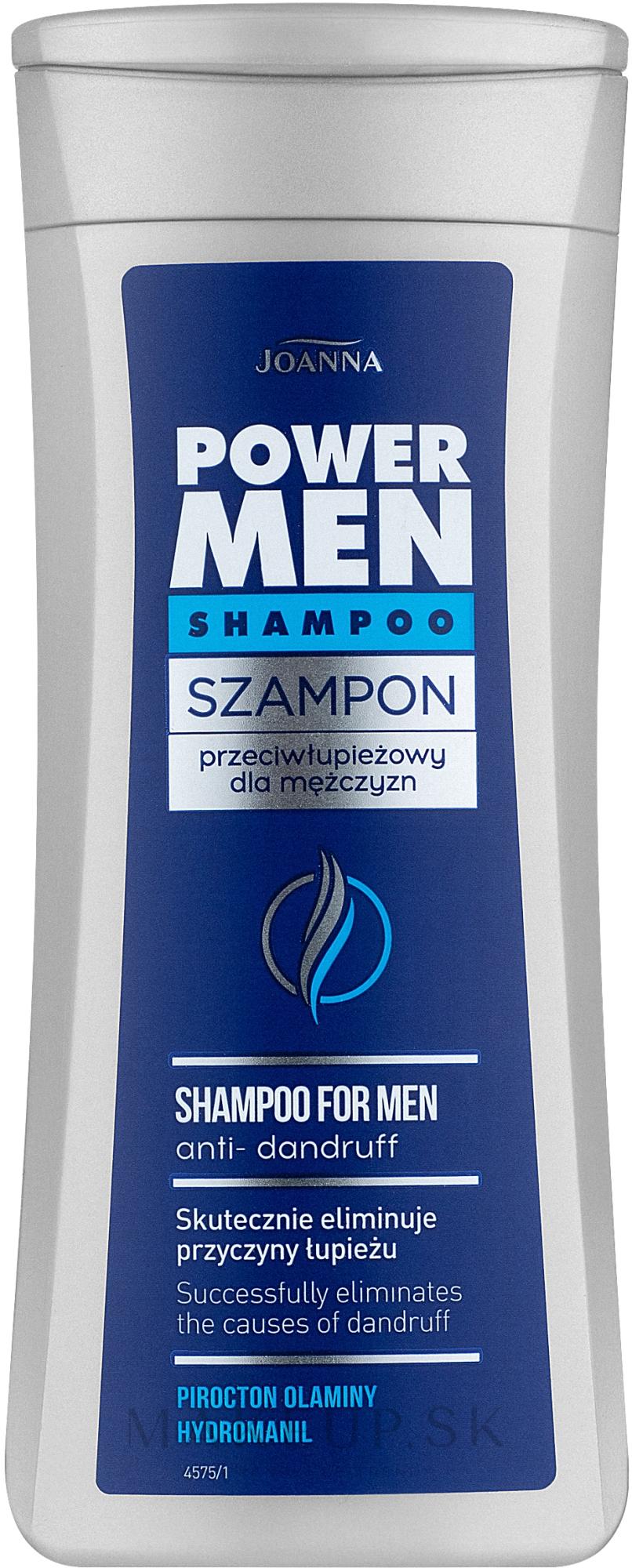 Šampón proti lupinám pre mužov - Joanna Power Hair Shampoo Anti-Dandruff — Obrázky 200 ml