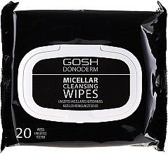 Voňavky, Parfémy, kozmetika Micelárne make-up obrúsky - Gosh Donoderm Micellar Cleansing Wipes