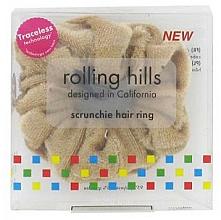 Voňavky, Parfémy, kozmetika Gumička do vlasov, bežová - Rolling Hills Scrunchie Hair Rings Beige