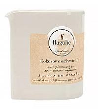 """Voňavky, Parfémy, kozmetika Masážna sviečka """"Vyživujúci kokos"""" - Flagolie Coconut Nutrition Massage Candle"""