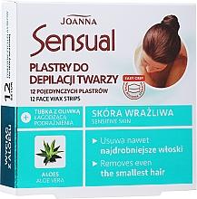 Voňavky, Parfémy, kozmetika Voskové pásky na depiláciu tváre s extraktom z aloe vera - Joanna Sensual Depilatory Face Strips