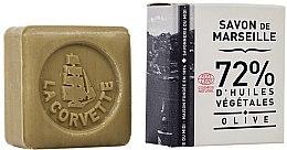 Voňavky, Parfémy, kozmetika Olivové mydlo, v škatuli, obdĺžnikové - La Corvette Savon de Marseille Olive