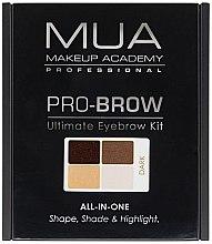 Voňavky, Parfémy, kozmetika Súprava na korekciu obočia - MUA Pro-Brow Ultimate Eye Brow Kit