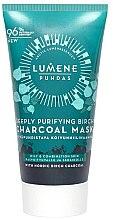 Voňavky, Parfémy, kozmetika Maska s brezovým uhlím na hĺbkové čistenie - Lumene Puhdas Deeply Purifying Birch Charcoal Mask