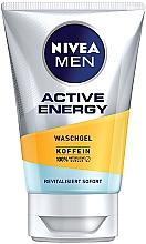 """Voňavky, Parfémy, kozmetika Gél na umývanie """"Náboj energie"""" - Nivea Men Active Energy Caffeine Face Wash Gel"""
