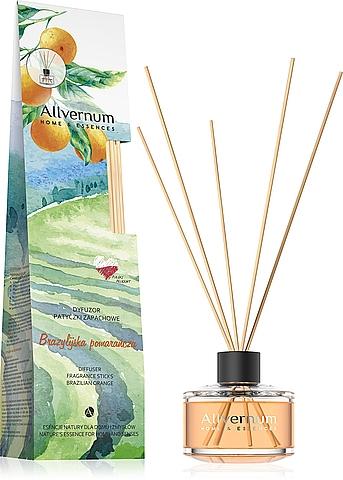 """Aromatický difúzor """"Brazílsky pomaranč"""" s tyčinkami - Allverne Home&Essences Diffuser"""