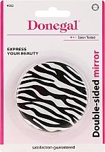 Voňavky, Parfémy, kozmetika Kompaktné zrkadlo, bilaterálne, biele - Donegal Mirror