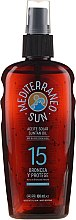 Voňavky, Parfémy, kozmetika Olej na opaľovanie - Mediterraneo Sun Coconut Suntan Oil Dark Tanning SPF15