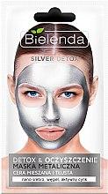 Voňavky, Parfémy, kozmetika Detoxikačná maska pre mastnú a kombinovanú pleť - Bielenda Silver Detox Metallic Mask