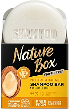Voňavky, Parfémy, kozmetika Tuhý šampón na výživu vlasov s argánovým olejom - Nature Box Nourishment Vegan Shampoo Bar With Cold Pressed Argan Oil