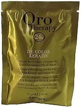 Voňavky, Parfémy, kozmetika Zosvetľujúci prášok s keratínom na vlasy, modrý - Fanola Oro Therapy Color Keratin
