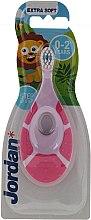 Voňavky, Parfémy, kozmetika Detská zubná kefka Step By Step, 0-2 roky, ružová - Jordan Step By Step Soft