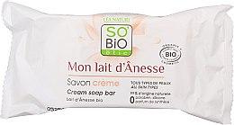 Voňavky, Parfémy, kozmetika Krémové mydlo s oslím mliekom - So'Bio Etic Donkey's Milk Face Cream Soap