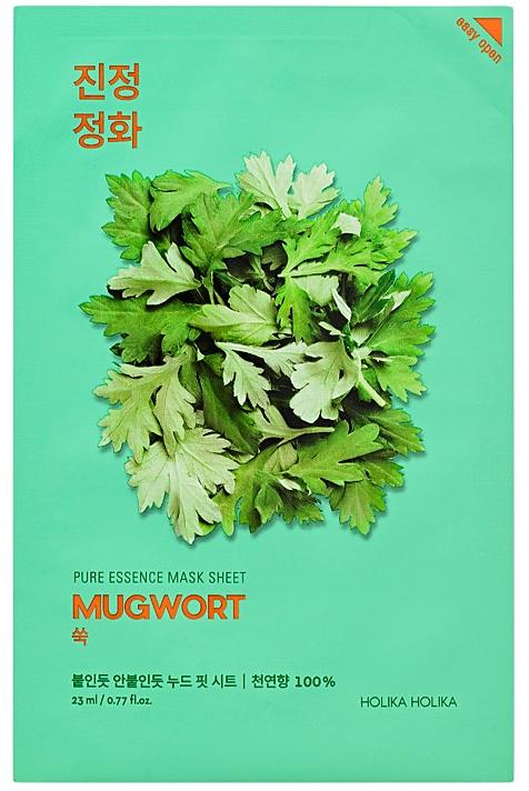 "Uspokojujúca textilná maska ""Palina"" - Holika Holika Pure Essence Mask Sheet Mugwort"