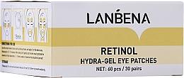 Voňavky, Parfémy, kozmetika Omladzujúca hydrogélová náplasti na oči s retinolom a kolagénom - Lanbena Retinol Collagen Hydra-Gel Eye Patch