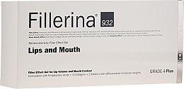 Voňavky, Parfémy, kozmetika Gél na zväčšenie objemu pier a zlepšenie kontúry, úroveň 4 - Fillerina Lips And Mouth Grade 4 Plus
