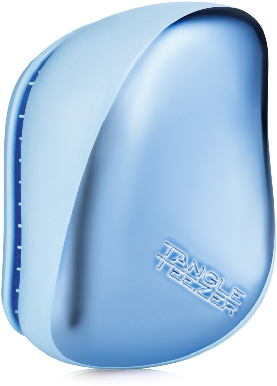 Kompaktná kefa na vlasy - Tangle Teezer Compact Styler Sky Blue Delight Chrome