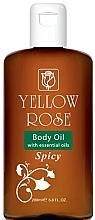 Voňavky, Parfémy, kozmetika Zmäkčujúci olej na telo - Yellow Rose Body Oil With Essential Oils Spicy