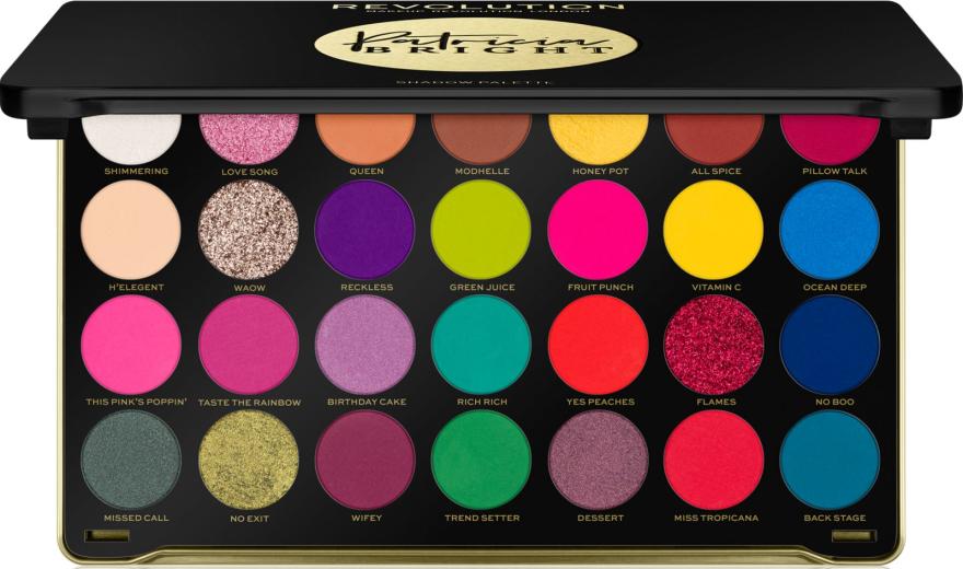 Paleta očných tieňov - Makeup Revolution X Patricia Bright Eyeshadow Palette