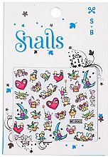 Voňavky, Parfémy, kozmetika Nálepky na nechtový dizajn - Snails 3D Nail Stickers