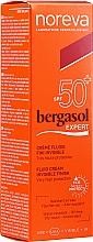 Voňavky, Parfémy, kozmetika Opaľovací fluid - Noreva Laboratoires Bergasol Expert IFluid Cream Invisible Finish SPF50+