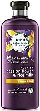 Voňavky, Parfémy, kozmetika Hydratačný šampón pre suché a poškodené vlasy - Herbal Essences Passion Flower & Rice Milk Shampoo