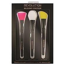 Voňavky, Parfémy, kozmetika Sada silikónových štetcov na tvarovanie - Makeup Revolution Silicone Contour Brush Set