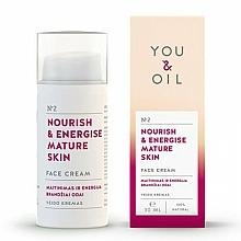 """Voňavky, Parfémy, kozmetika Krém na tvár """"Výživa a energia"""" - You & Oil Nourish & Energise Mature Skin Face Cream"""
