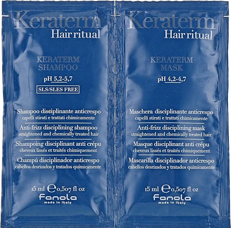 Sada vzoriek na rekonštrukciu poškodených vlasov - Fanola Keraterm (shmp/15ml + mask/15ml)
