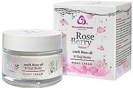 Voňavky, Parfémy, kozmetika Nočný krém na tvár - Bulgarian Rose Rose Berry Nature Night Cream