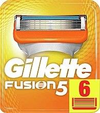 Voňavky, Parfémy, kozmetika Vymeniteľné kazety na holenie, 6 ks - Gillette Fusion