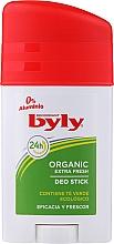 Voňavky, Parfémy, kozmetika Tuhý dezodorant - Byly Organic Extra Fresh 48h Deodorant Stick