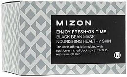 Voňavky, Parfémy, kozmetika Vyhladzovanie vrások okamžitý maska s čiernymi fazuľami - Mizon Enjoy Fresh On-Time Black Bean Mask