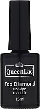 Voňavky, Parfémy, kozmetika Top na gélový lak bez lepivej vrstvy - QueenLac Top Diamond No Wipe UV/LED