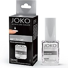 Voňavky, Parfémy, kozmetika Vrchný náter pre matný efekt - Joko Manicure Salon Matt Top Coat