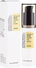 Voňavky, Parfémy, kozmetika Krém na pokožku okolo očí s peptidmi a slimákom - Cosrx Advanced Snail Peptide Eye Cream