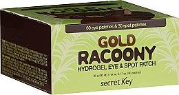 Voňavky, Parfémy, kozmetika Hydrogélové náplasti na pokožku okolo očí so zlatom - Secret Key Gold Racoony Hydrogel Eye Spot Patch