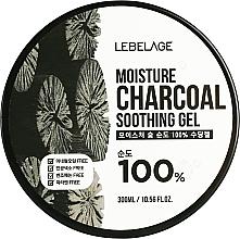 Voňavky, Parfémy, kozmetika Hydratačný gél s dreveným uhlím  - Lebelage Moisture Charcoal 100% Soothing Gel