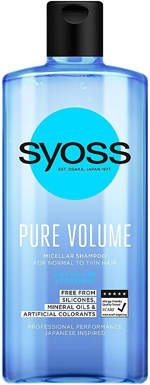 Micelárny šampón pre normálne a tenké vlasy - Syoss Pure Volume Micellar Shampoo