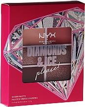 Voňavky, Parfémy, kozmetika Paleta očných tieňov - NYX Professional Makeup Diamond & Ice Shadow Palette