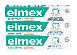 Voňavky, Parfémy, kozmetika Sada - Elmex Sensitive Toothpaste (toothpaste/3x75ml)