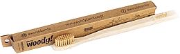 Voňavky, Parfémy, kozmetika Bambusová zubná kefka, stredne tvrdá, béžové štetiny - WoodyBamboo Bamboo Toothbrush Natural